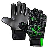 Puma Future Grip 19.4, Guanti Portiere Unisex-Adulto, Nero Black/Charcoal Gray/Green Gecko, 9