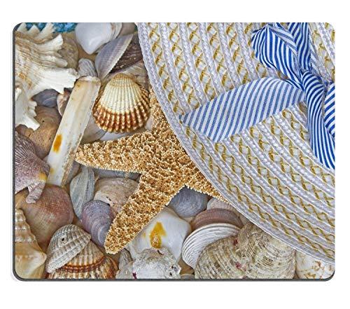alle Muscheln mit Seestern Detail mit Einem ausrangierten Sonnenhut Mauspad Spiel Mauspad Rechteck Mausmatte 300mm * 250mm * 3mm - Spielen Sonnenhut