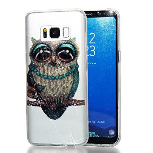 Funda para Samsung Galaxy S8, Ecoway TPU Altamente transparente Resplandecer Pintado Case...