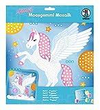 Ursus 8420015 - Moosgummi Mosaikbild, Pegasus mit Glitter, ca. 25 x 27 cm