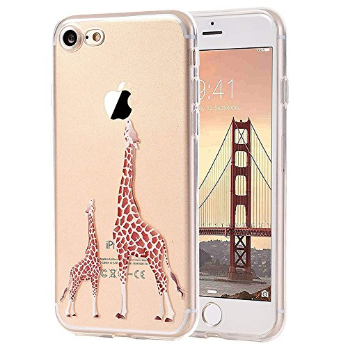UMCCC Iphone8plus-Handy-Fall, Kreativer Weicher Entwurfs-TPU-Silikon-Handy-Kasten 2 Giraffe (Fall Vuitton Samsung Louis)