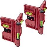 2x Smartfox Pfosten Winkel Wasserwaage Montagehilfe für Pfostenträger