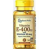 Puritans Pride Vitamin E-400 IU with Selenium 50 mcg 100 softgels