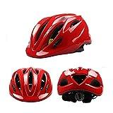Kuan-helmet Kinderfahrradhelm, Cooler Pulley Cap Skating Fahrradhelm, Nacht LED Helm Warnrücklicht (abnehmbar), geeignet für 3-10 Jahre.