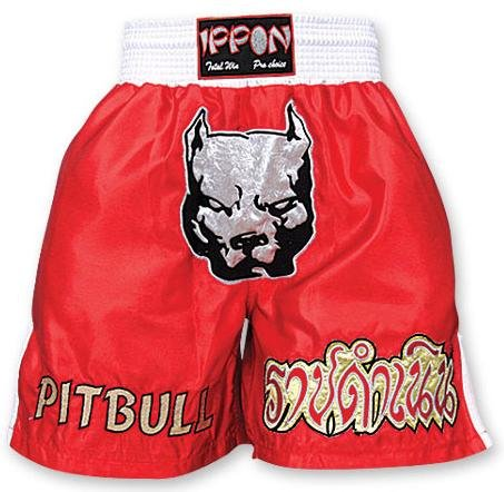 M.A.R International Ltd. Kick Boxen & Thai Boxing Shorts Kickboxen Hose MMA Hose Boxen Kleidung Muay Thai K1 Gear Polyester Satin Stoff Rot XL rot - rot -