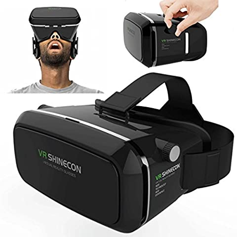 Gearmax® Universal 3D VR Box Headset Brillen Virtual Reality Brille Handy 3D-Filme für iPhone 6 / iPhone 6s / Samsung Galaxy S6 / Galaxy S5 / Galaxy S4 / Galaxy Note 4 / Galaxy Note 3 / Galaxy S6 Edge / MOTO / Sony Xperia / HTC / ASUS Zenfone und 4,7 ~ 6,0 Zoll Smartphones