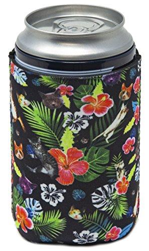 Funny Guy Tassen, Hawaiian Katze zusammenklappbar Neopren Kann Coolie Lampenschirm, Drink Kühler