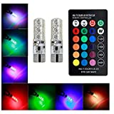 AREOUT Remote Control T10 LED car interior light,5050-6SMD RGB car Atmosphere light,multi-color changing lightbulb for the car