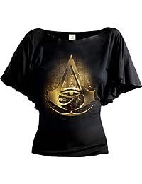 Spiral Women - Origins Logo - Assassins Creed Boat Neck Bat Sleeve