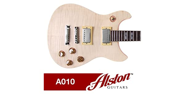 alston guitars diy electric guitar kit set in solid mahogany alston guitars diy electric guitar kit set in solid mahogany body neck flamed maple veneer amazon co uk musical instruments