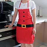 Ferrell Christmas Decoration Santa Claus Apron Kitchen Aprons Christmas Dinner Party Apron for Adult And Child