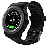 Men Women Sports GPS Watch Touch Screen GPS Running Watch Wrist Heart Rate Monitor Outdoor Navigation With GPS Location,Smart Notifications,Weather Forecast ,Counts Steps,Distance,Pace,Heart Rate,Calories Burned Perfect for Running,Cycling and Walking Indoor/Outdoor Sports,Compatible IOS 8.0 & Android 4.4 and above (Black)