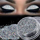 TAOtTAO Glitter scintillante per trucco, porporina argentata, pigmento per ombretto