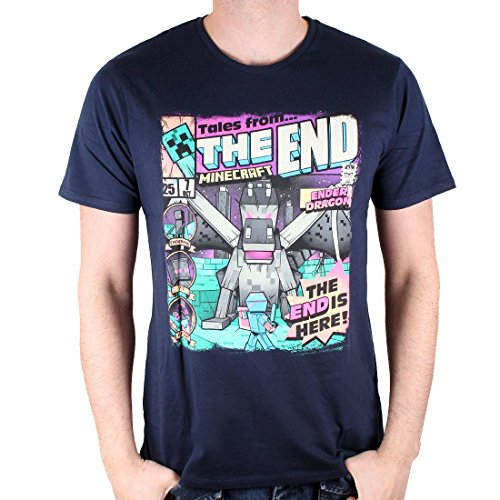 Minecraft - Herren Gaming Lizenz Premium T-Shirt - Enderman (Navy Blau) (S-XL) (S)