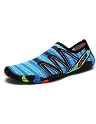 DoGeek Unisex Zapatos de Agua Acuático Escarpines para el Agua de Surf de Playa de Deporte