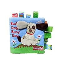 Baby Toy, LILICAT 0-2 Years Old Kids Educational Toys Animal Cute Sheep Bird Monkey Dog Puzzle Cloth Book Baby Toy Cloth Development Books Safe Colorful Books Birthday Gifts (A, 16*16cm)