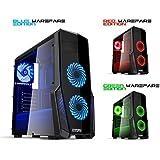 EMPIRE GAMING BOITIER PC GAMING WARFARE NOIR LED BLEUE - USB 3.0 - 3 VENTILATEURS 120 MM LED