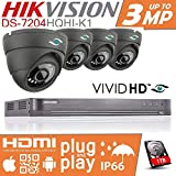 HIKVISION CCTV SYSTEM 1080P FULL HD KIT PACKAGE INC 1TB HDD 4X SECURITY
