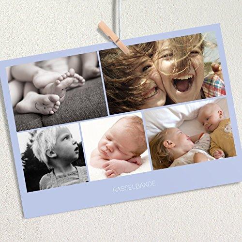 """Preisvergleich Produktbild Fotokarten Set gestalten, Fotogeschenk """"Fotokarte Multi Feines Blau"""", für min. 20 individuelle Fotos, 20 Karten in Fotobox, Blau"""