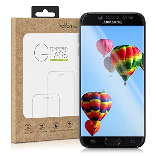 kalibri-Echtglas-Displayschutz-fr-Samsung-Galaxy-J7-2017-DUOS-3D-Schutzglas-Full-Cover-Screen-Protector-mit-Rahmen-Glas-Folie-auch-fr-gewlbtes-Display-in-Schwarz