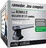 Rameder Pack Barres de Toit SlideBar pour Renault Megane IV 3/5 Portes...