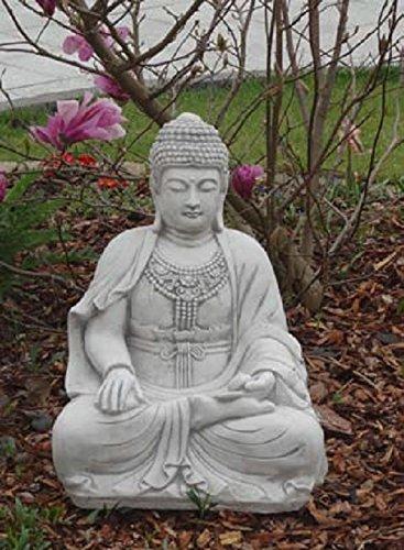 Buddha sitzend (S101156) Gartenfigur Skulptur Statue Steinguss Betonguss 64 cm