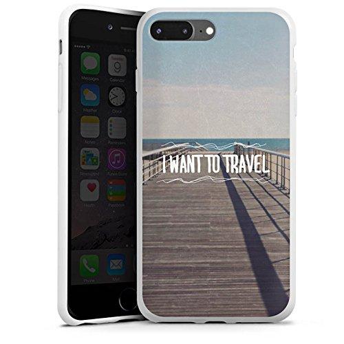 Apple iPhone X Silikon Hülle Case Schutzhülle Reisen Sommer Sprüche Silikon Case weiß