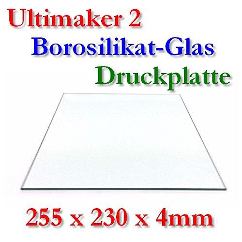 Borosilikat Glas Druckplatte 255x230x4mm UM2