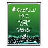 GadFull Batería de reemplazo para Samsung Galaxy S3 | 2019 Fecha de producción | Corresponde al Original EB-L1G6LLU | Compatible con Galaxy S3 i9300 | Galaxy S3 LTE i9305 batería de Repuesto