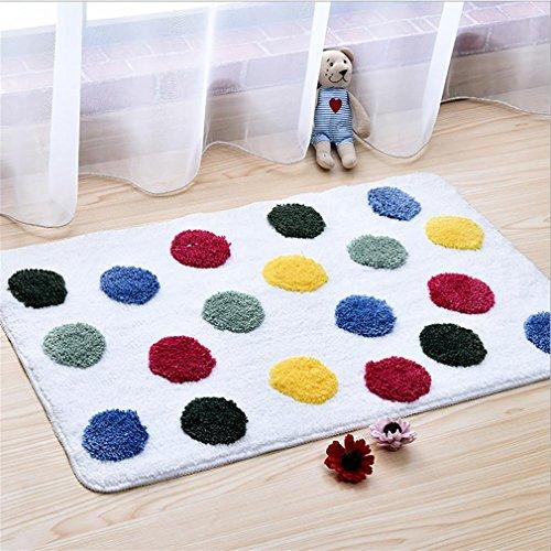 LL-Weichen Bereich Teppich mit rutschfesten Gummi, Luxus Badezimmer Dekor für Wohnzimmer Schlafzimmer, maschinenwaschbar 50 * 80 cm , red wave point