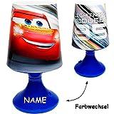 alles-meine.de GmbH LED Tischlampe -  Disney Cars / Lightning McQueen - Auto  - inkl. Name - mit..