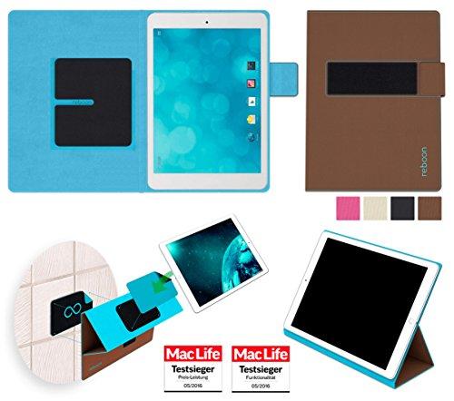 reboon Hülle für Blaupunkt Polaris QC Tasche Cover Case Bumper | in Braun | Testsieger