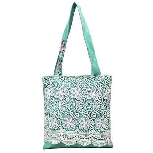 Mitlfuny handbemalte Ledertasche, Schultertasche, Geschenk, Handgefertigte Tasche,Mode frauen leinwand reißverschluss spitze blume umhängetaschen handtasche einkaufstasche