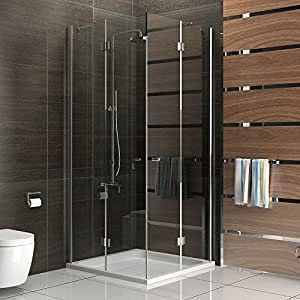 duschabtrennung 100x100 trennwand duschwand alpenberger. Black Bedroom Furniture Sets. Home Design Ideas