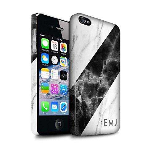 Personalisiert Individuell Marmor Matte Hülle für Apple iPhone 7 Plus / Schwarze Schärpe Design / Initiale/Name/Text Snap-On Schutzhülle/Case/Etui Schwarze Schärpe