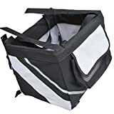 PawHut Portable Pet Travel Carrier Bag Dog Cat Puppy Car Bike Bicycle Soft Seat Tote Kennel