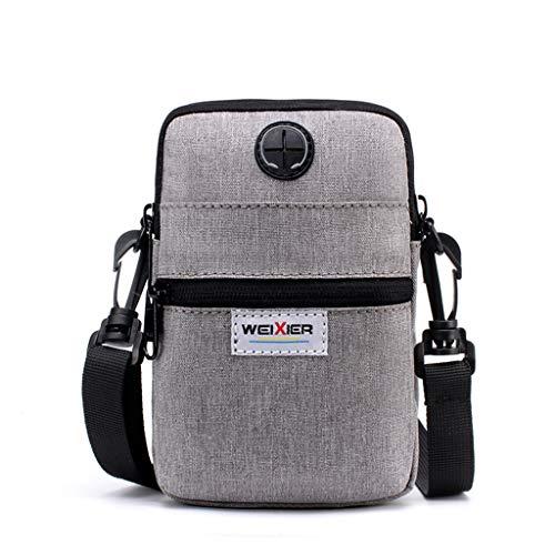 LILIHOT Men Multifunktions-Handytasche Diagonal Mini Schulter Outdoor-Sporttasche Canvas UmhäNgetasche Wasserdicht Crossbody Mode Messenger Bag Freizeit Brieftasche -