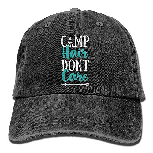 Men Women Camp Hair Don t Care Cotton Denim Baseball Hat Adjustable Street Rapper Hat ()