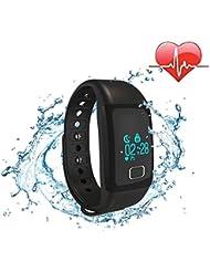 Bracelet intelligent étanche IP67 Montre Connectée Avec Écran Tactile Fitness Tracker Podomètre Calories Sommeil Fréquence Cardiaque Rappel d'appel pour Android IOS Smartphone