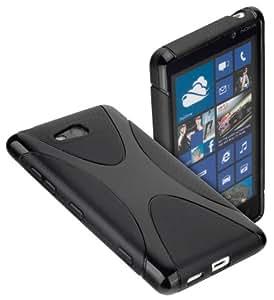 yayago Protect Silikon Case X-Style black Tasche Schutzhülle Hülle für Nokia Lumia 820