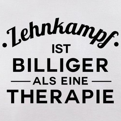 Zehnkampf ist billiger als eine Therapie - Herren T-Shirt - 13 Farben Weiß