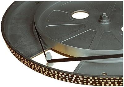 Electrovision–Correa de platino tourne-disques negra–Dimensiones: 121mm