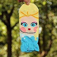 TDPYT 5 Unids/Primavera Verano De Dibujos Animados Divertidos Calcetines De Algodón Niñas Nueva Princesa Sirena Calcetines Coreanos para Las Mujeres Envían Calcetines