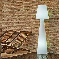 Delamaison JLE7051009 Lampadaire, Plastique, E27, 15 W, Blanc, 170cm X 45cm