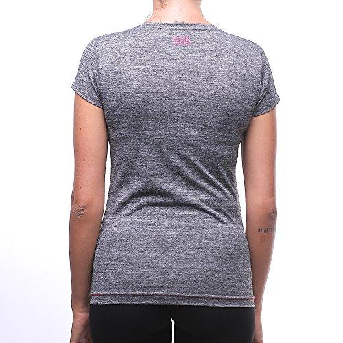BOXEUR DES RUES Bxe-2668d, T-Shirt Femme Grigio (Grey Mel)