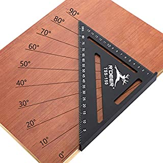 Dkings 50mm Alloy Measuring Ruler Roofing Rafter Carpentry Ruler Protractor Layout Tools