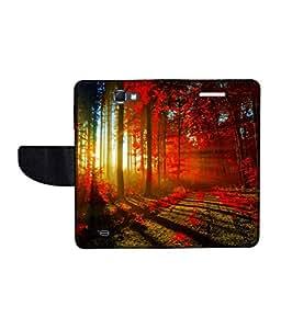 KolorEdge Printed Flip Cover For Samsung Galaxy Note 2 N7100 Multicolor - (55KeMLogo11133SamN7100)