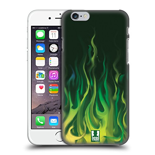 Head Case Designs Grün Feuer Hot Rod Flamme Ruckseite Hülle für Apple iPhone 6 / 6s