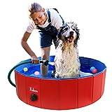 Fuloon Piscina per Cani, Piscina per Bambini,Vasca da Bagno per Cani Gatti Piccoli e Medi,Bagno per Cani Antiscivolo in PVC Pieghevole,Bordo Stabile per Bambini/Animali Domestici