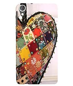 Citydreamz Colorful Heart/Peace/Love Hard Polycarbonate Designer Back Case Cover For HTC Desire 828